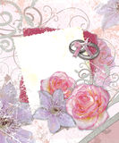 Wedding frame vector illustration