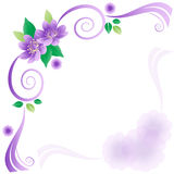 Wedding frame. Wedding card with lavender flowers stock illustration