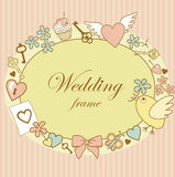 Wedding-frame Royalty Free Stock Photo