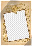 Wedding frame. Beautiful frame box on the wedding picture Royalty Free Illustration