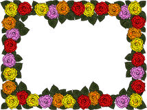 Wedding frame from flowers Royalty Free Stock Image
