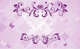 Wedding frame. Wedding violet floral wintage frame Stock Photo