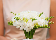 Wedding freesias bouquet Stock Photo