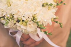 Wedding freesias bouquet Royalty Free Stock Photo