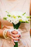 Wedding freesias bouquet Royalty Free Stock Photos