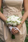Wedding freesias bouquet Stock Images