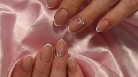 Wedding French manicure design royalty free stock image