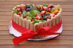 Wedding Fruit Cake stock photos