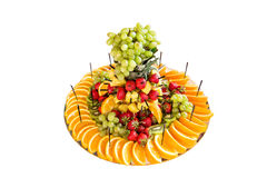 Wedding fruit plate on the white background Royalty Free Stock Photo
