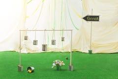 Wedding game on grass Stock Photo