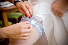 Wedding garter of the bride Stock Photography