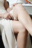 Wedding garter close up Stock Image