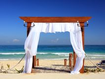 Wedding gate on the beach Royalty Free Stock Images