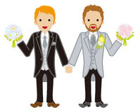 Wedding -gay couple -Red hair Royalty Free Stock Photography