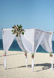 Wedding Gazebo on the Beach Stock Photos