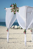 Wedding Gazebo on the Beach Royalty Free Stock Images