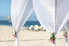 Wedding Gazebo on Beach Stock Image