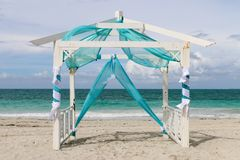 Wedding gazebo on the beach, Cuba, Varadero Stock Photography