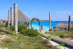 Wedding gazebo on the Caribbean coast. Sol Cayo Largo. Cuba Stock Images