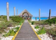 Wedding gazebo on the Caribbean coast. Sol Cayo Largo. Cuba Royalty Free Stock Images