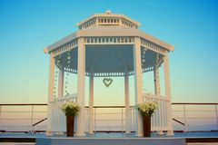 Wedding Gazebo in Evening Royalty Free Stock Image