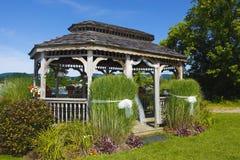 Wedding gazebo. Lovely Victorian gazebo in park-like setting Stock Images