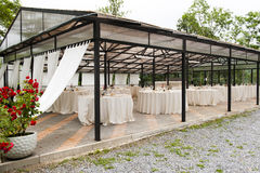 Wedding gazebo Stock Image