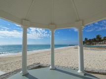 Wedding gazebo on a tropical beach Royalty Free Stock Images