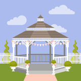 Wedding gazebo. Vector illustration Stock Images