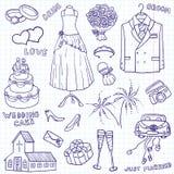 Wedding Gekritzel Lizenzfreie Stockbilder