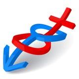 Wedding gender symbols Royalty Free Stock Images