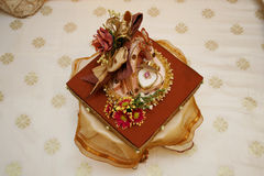 Wedding gift. Beautiful decorated wedding gift of a Malay wedding Stock Images