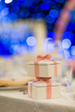 Wedding gift. Set for dining,indoor wedding scene Stock Images