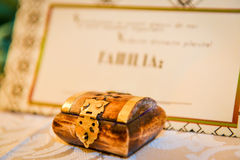 Wedding gift. Small box as wedding gift Stock Image