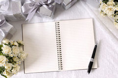 Wedding album diary white copy space Royalty Free Stock Photography