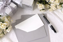 Wedding invitation thank you note card copy space Stock Images