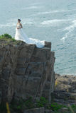 Wedding girl in Cliff Stock Photos