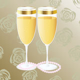 Wedding glasess with shampagne Royalty Free Stock Photography