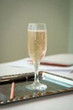 Wedding glass of champagne. On the desk Royalty Free Stock Image