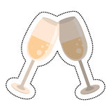 Wedding glass cups champagne Stock Image