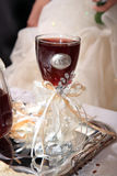 Wedding glass of red wine Stock Photography