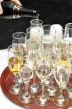 Wedding Glasses. Glasses before an wedding reception Stock Photos