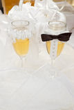Wedding glasses Stock Photography