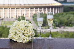 Wedding glasses Royalty Free Stock Photos