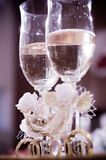 Wedding glasses Royalty Free Stock Images