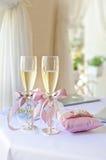 Wedding glasses Stock Photos