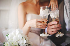 Wedding glasses Royalty Free Stock Image