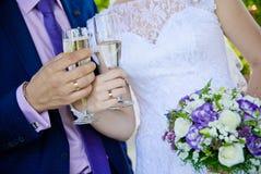 Wedding glasses Royalty Free Stock Photo