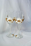 Wedding glasses of champagne Stock Image