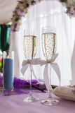 Wedding glasses of champagne Stock Photo